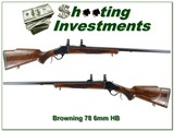 Browning Model 78 hard to find 6mm Heavy Barrel XX Wood!