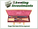 Ruger Red Label 20 Ga Custom Engraved w/ Gold Inlays