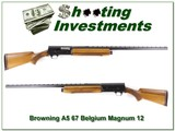 Browning A5 Magnum 12 67 Belgium VR Blond - 1 of 4