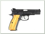 CZ 75B Omega 9mm with 2 16 round mags unfired wood grips - 2 of 4