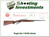 Ruger No.1 B pre-warning 76 Liberty 30-06 unfired in box!