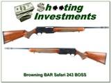 Browning BAR Safari RARE 243 w BOSS Exc Cond - 1 of 4