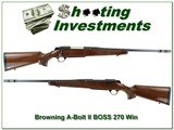 Browning A-Bolt II 270 Win BOSS Exc Cond