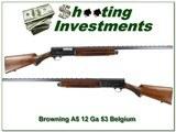 Browning A5 12 Gauge 53 Belgium Collector!