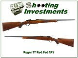 Ruger 77 Red Pad pre-Warning 243 22in