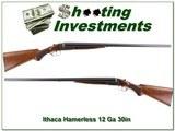 Ithaca Field Hammerless 12 Ga Collector