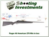 Ruger American 270 Winchester in box