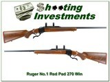 Ruger No.1 B Red Pad 270 exceptional wood! - 1 of 4