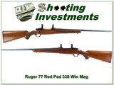 Ruger 77 Red Pad tang safety 338 Win Mag - 1 of 4