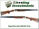 Ruger Red Label 12 Ga 28in 1984 Ducks Unlimited hand engraved! - 1 of 4