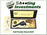 Colt Frontier Scout 4 3/5in 22LR & 22 magnum ANIC - 1 of 4
