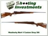 Weatherby Mark V Custom Shop 26in 300 Wthy Mag