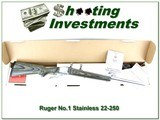 Ruger No.1 Stainless Laminate 22-250 Rem in box!
