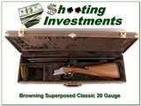 Browning 1986 Superposed Classic 20 Ga in case