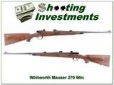 Whitworth Interarms Mauser Classic Safari 270 Win - 1 of 4