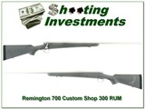 Remington 700 Custom Shop Stainless 300 RUM - 1 of 4