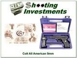Colt All American 9mm semi-auto NIC