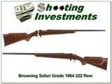 Browning Safari Grade 1964 RARE 222 Rem varmint barrel - 1 of 4