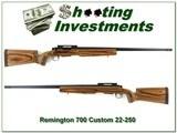 Remington 700 Custom target 22-250 28in heavy Shilen barrel with break - 1 of 4