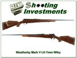 Weatherby Mark V Deluxe LH 7mm Wthy Mag Excellent wood!