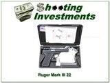 RUGER MK III 22/45 4in Target Bull barrel NIC