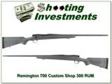 Remington 700 Custom Shop 300 RUM like new!