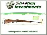 Remington 700 Varmint Special 223 Rem box!