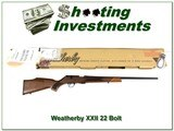Weatherby XXII 22 Bolt action Anschutz AS NEW!! - 1 of 4