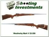 Weatherby Mark V Varmintmaster 22-250 XX Wood! - 1 of 4