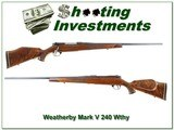 Weatherby Mark V Deluxe German 240 XX Wood! - 1 of 4