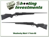 Weatherby Mark V in hard to find 7mm-08