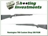 Remington 700 Custom Shop Stainless 300 RUM
