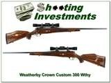 Weatherby Mark V Crown Custom German 300 Wthy