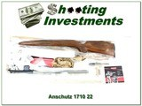 Anschutz 1710 U2 HB .22 LR Stainless unfired in box limited production!