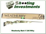 Weatherby Mark V Camilla Subalpine 240 Wthy Mag NIB