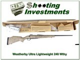Weatherby Mark V Ultralight 240 factory new! - 1 of 4
