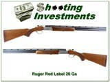 Ruger Red Label 20 Ga 26in Red Pad with factory tubes