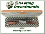 browning a5 ducks unlimited 12 ga with case!