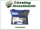 colt defender lightweight 1911 stainless unfired in case 2 mags