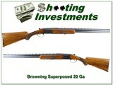 browning superposed 20 ga 65 belgium exc wood and cond!