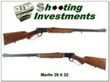 Marlin 39 A 1950 made JM Marked Pre-Safety classic!