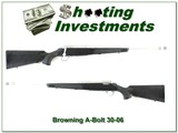 Browning A-Bolt Stainless Stalker BOSS 30-06 Exc Cond