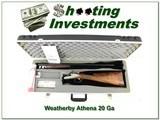 Weatherby D'Italia Deluxe Custom 20 Ga unfired in case RARE!