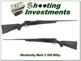 Weatherby Mark V Synthetic 9-Lug 240 Wthy Mag! - 1 of 4