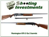 Remington 870 Wingmaster 20 Ga 2 barrel set Exc Cond! - 1 of 4