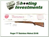 Ruger 77 Mark II rare Stainless Walnut 25-06 in box