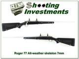 Ruger 77 7mm Skeleton Zytel stock Exc Cond!