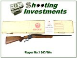 Ruger No.1 B Red Pad 243 Win looks unfired in box!