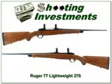 Ruger 77 Tang Safety Ultra Light 270 Win