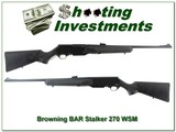 Browning BAR Mark II Light Weight Stalker 270 WSM Exc Cond
